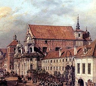 St. Anne's Church, Warsaw - Image: Canaletto Kościół św. Anny
