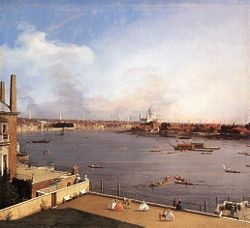 Covanni Antonio: London: The Thames and the City of London from Richmond House
