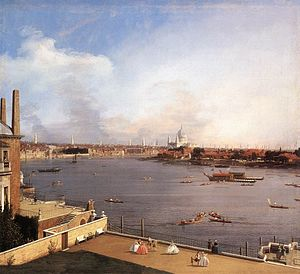 Veduta - The River Thames from Richmond House:  a classic veduta by Canaletto, 1747.