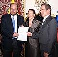 Canciller Patiño de Ecuador y el Canciller Moreno de Chile oficializan en evento aporte chileno a la Iniciativa Yasuní-ITT (4993984947).jpg