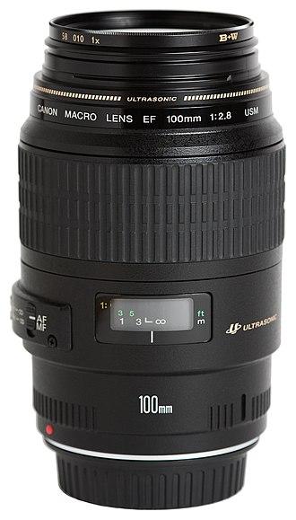Canon EF 100mm lens - Image: Canon EF 100mm f 2.8 Macro USM