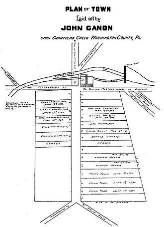 Canonsburg, Pennsylvania - Image: Canonsburg plots John Canon