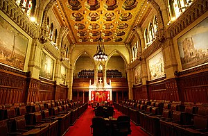 Senate Chamber, Centre Block of the Parliament...