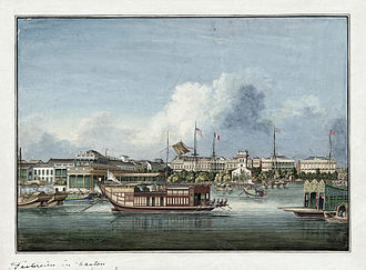 Canton System - Canton factories c. 1850