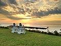 Cape Charles, Virginia - sunset from the Aqua restaurant - panoramio.jpg