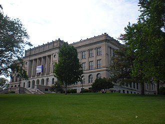 History of Omaha, Nebraska -  Omaha Central High School sits on the site of the old capitol building on capital hill in Downtown Omaha.