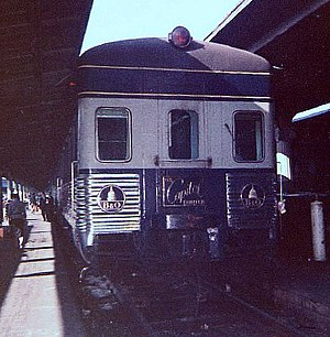 Capitol Limited (B&O train) - The Capitol Limited about to depart Union Station, Washington, D. C., for Chicago, Illinois, in 1961.