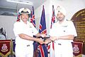 Captain GS Oberoi receiving the personal effects of Late Admiral OS Dawson from Commander Janardhanan (2).jpg