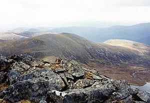 Càrn nan Gobhar (Mullardoch) - Càrn nan Gobhar seen from Sgurr na Lapaich, 2.5 km to the NW.