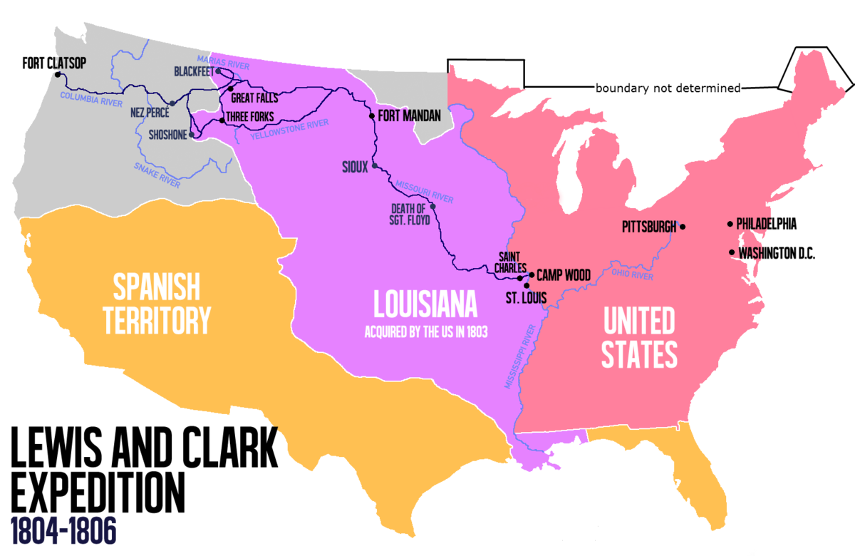 Map Of Louisiana Territory.Lewis And Clark Expedition Wikipedia