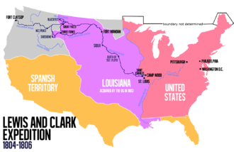 Lewis and Clark Expedition - Route of the expedition