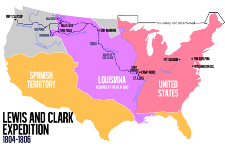 Carte Lewis and Clark Expedition