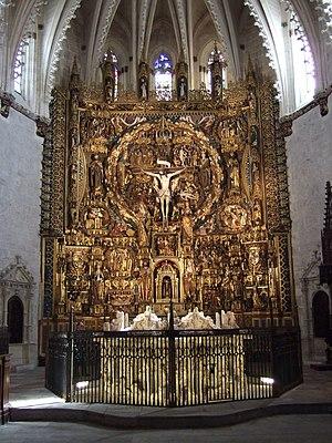 Gil de Siloé - Image: Cartuja de Moraflores (Burgos) Retablo mayor y tumba de Juan II