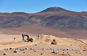 Cerro Armazones - Image: Carving a Route to Armazones