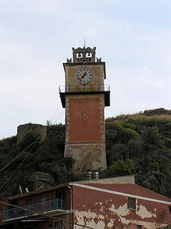 Clock tower in Cassano