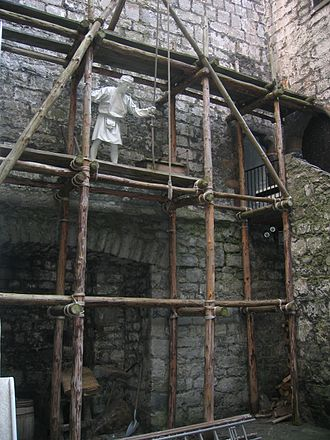 Castle Rushen - Construction work exhibition at Castle Rushen