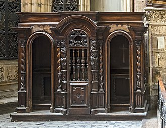 Confessional - Confessional at the Toulouse Cathedral