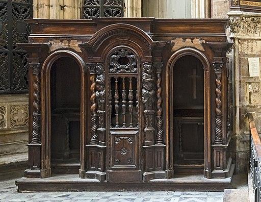 Cathédrale Saint-Étienne de Toulouse - chapelle des reliques - Confessionnal PM31000752