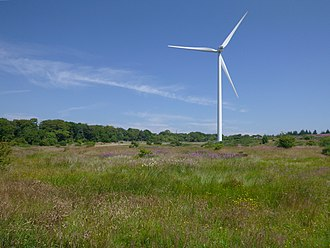 Cathkin Braes - Wind turbine, installed 2013