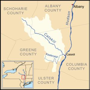 Catskill Creek - Image: Catskillcreekmap