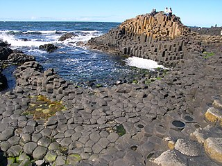 Giants Causeway rock formation on the Antrim coast of Northern Ireland