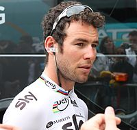 Mark Cavendish podczas Tour de France 2012