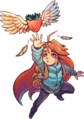 Celeste character Madeline with strawberry.png
