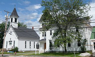 Conway, New Hampshire - Image: Center conway town hall united methodist church