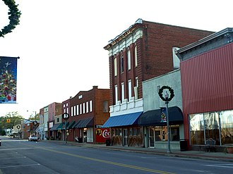Piedmont, Alabama - Buildings on Center Avenue