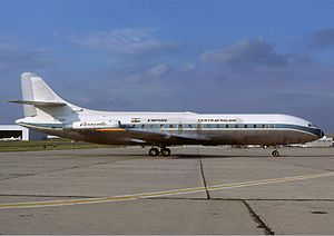 Central African Empire - A Sud Aviation Caravelle in the markings of the Central African Empire (1977).