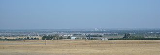 Central Valley (California) - The valley in late August, looking at Tracy