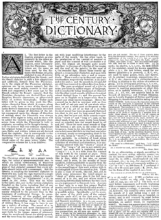 <i>Century Dictionary</i> book by William Dwight Whitney