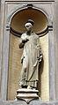 Certosa di firenze, chiesa di san lorenzo, ext., Giovanni Fancelli, s. bruno (1556).JPG