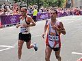 Cesar Lizano (Costa Rica) & Pedro Mora (Venezuela) - London 2012 Mens Marathon.jpg