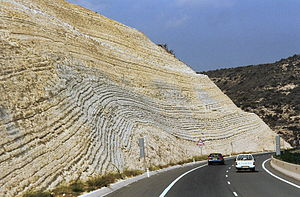 Chalk layers in Cyprus (Paphos-Limassol) 02