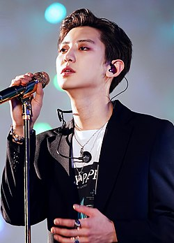Chanyeol during the Exo Planet 5 – Exploration concert on December 2019 (6).jpg