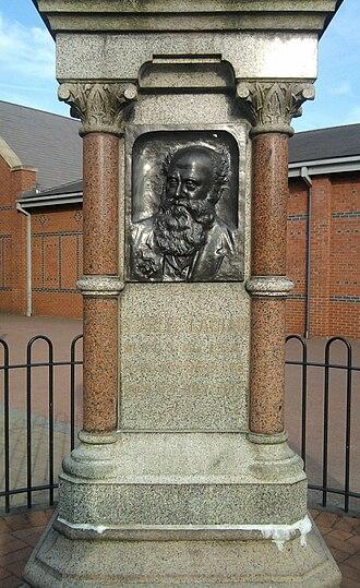 Sandbach - Public memorial statue to Charles Latham MRCS LSA (1816–1907) physician
