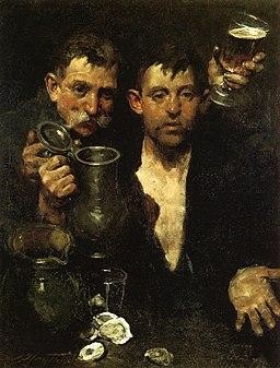 Charles W. Hawthorne - Bums Drinking (1903)