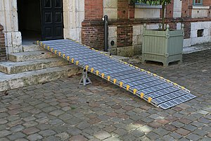 Inclined plane - Wheelchair ramp, Hotel Montescot, Chartres, France