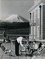 Chateau Tongariro, Mt Ngauruhoe in background, 1960 (15652251457).jpg