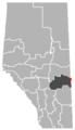 Chauvin, Alberta Location.png