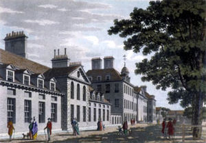 Chelsea College (17th century) - Chelsea Hospital in 1800.