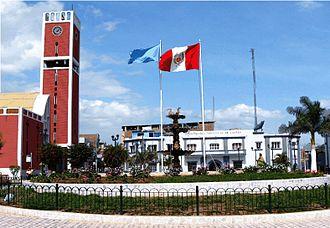 Chepén - Main square of Chepén