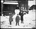 Children and their champion snowman, November 20, 1921 (MOHAI 5540).jpg