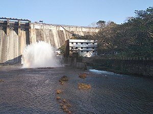 Chimmony Dam - Image: Chimmini dam front view