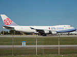 China Airlines Cargo Boeing 747-400F (B-18717) at Miami International Airport.jpg