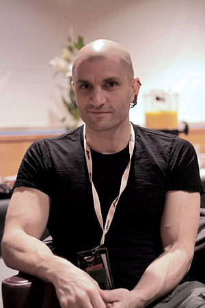 English: Author China Mieville at Utopiales 20...