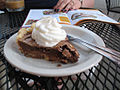 Chocolate chess pie while reading a magazine.jpg