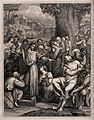 Christ raises Lazarus from his tomb. Etching by R.W. Sievier Wellcome V0034882.jpg