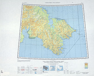 Penkigney Bay - 1947 map of the Chukchi Peninsula.